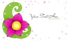 Cartão da flor Foto de Stock