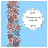 Cartão da flor Fotografia de Stock