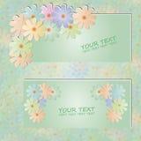 Cartão da flor Fotos de Stock