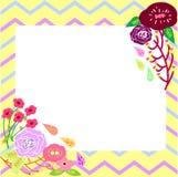 Cartão da flor com molde tribal do fundo Imagem de Stock