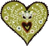 Cartão da forma do amor da flora Imagens de Stock
