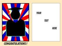 Cartão da graduação ilustração stock