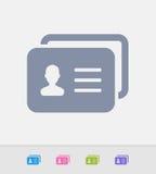 Cartão da identificação - ícones do granito ilustração stock