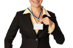 Cartão da identificação Imagens de Stock