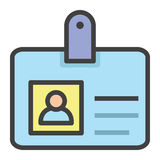 Cartão da identificação Fotos de Stock