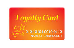 Cartão da lealdade Fotos de Stock Royalty Free