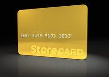 Cartão da loja do ouro ilustração stock