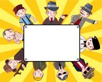 Cartão da máfia dos desenhos animados Imagens de Stock