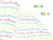 Cartão da música ilustração stock