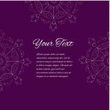 Cartão da mandala Imagens de Stock Royalty Free
