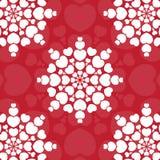 Cartão da mandala do coração Cartão do dia dos Valentim Fotografia de Stock