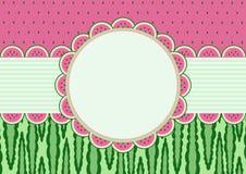 Cartão da melancia Imagem de Stock Royalty Free