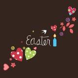 Cartão da mensagem de Easter Imagens de Stock Royalty Free
