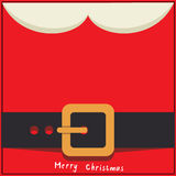 Cartão da mensagem de Santa Foto de Stock Royalty Free