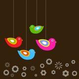 Cartão da mola Fotografia de Stock