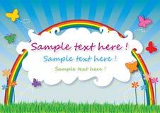 Cartão da mola Imagens de Stock Royalty Free