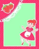 Cartão da morango Fotografia de Stock