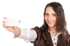 Cartão da mulher de negócios fotos de stock royalty free