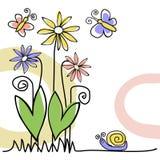 Cartão da natureza Fotografia de Stock Royalty Free