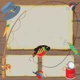Cartão da observação do convite da pesca Foto de Stock