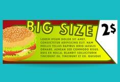 Cartão da oferta do Hamburger FastFood Imagens de Stock Royalty Free