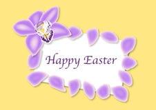 Cartão da orquídea de Easter Foto de Stock Royalty Free