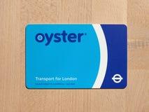 Cartão da ostra para o transporte de Londres Imagens de Stock Royalty Free