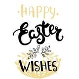 Cartão da Páscoa - desejos felizes da Páscoa Fotografia de Stock Royalty Free