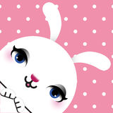 Cartão da Páscoa feliz com a cabeça de um coelho Fotografia de Stock
