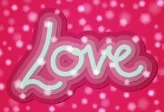 Cartão da palavra do amor do Valentim 3d Foto de Stock Royalty Free