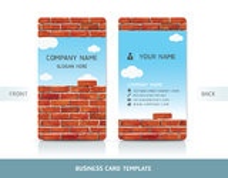 Cartão da parede de tijolo vermelho. ilustração royalty free