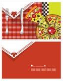 Cartão da pizza Fotografia de Stock Royalty Free