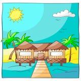 Cartão da praia do recurso Imagem de Stock