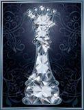 Cartão da rainha da xadrez do diamante ilustração royalty free
