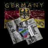 Cartão da RDA do símbolo de Alemanha Einhein, Berlin Wall foto de stock