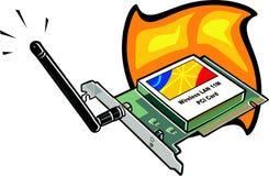 Cartão da rede wireless Fotografia de Stock