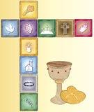 Cartão da religião ilustração stock