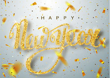 Cartão da rotulação do ano novo feliz para o feriado Imagem de Stock Royalty Free