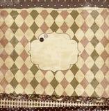 Cartão da sucata do vintage do vetor ilustração royalty free