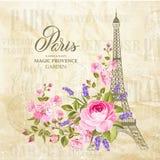 Cartão da torre Eiffel Imagens de Stock