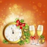 Cartão da véspera de Ano Novo Imagem de Stock
