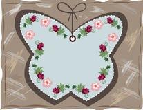 Cartão da venda, borboleta decorativa Fotografia de Stock Royalty Free