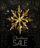 Cartão da venda do Natal com a decoração luxuosa do ouro imagem de stock royalty free