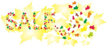 Cartão da venda do outono ilustração stock