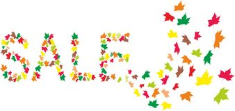 Cartão da venda do outono ilustração royalty free