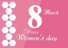 Cartão da venda para mulheres ` s dia o 8 de março internacional Foto de Stock