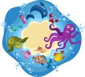 Cartão da vida de mar Fotografia de Stock