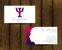 Cartão da visita do vetor da psicologia Logotipo moderno Estilo creativo Conceito de projeto ilustração stock