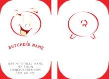 Cartão da visita dos carniceiros Imagem de Stock Royalty Free