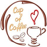 Cartão da xícara de café Imagem de Stock Royalty Free